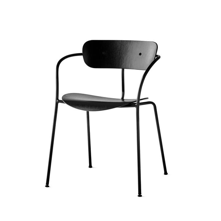 The Pavilion Chair by &Tradition with black base / black lacquered oak: