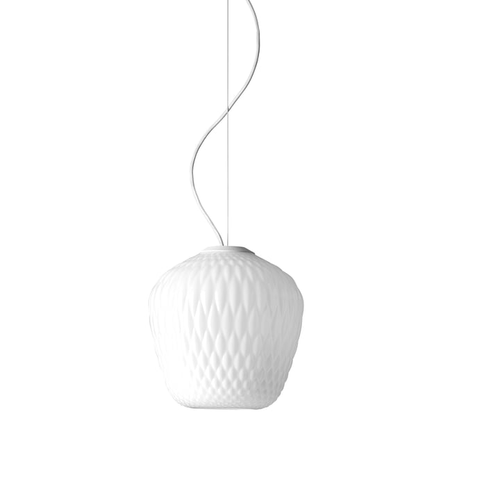 Blown SW3 Pendant Lamp by &Tradition, Opal / White Cable
