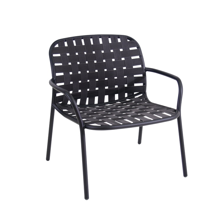 Yard Lounge chair from Emu in black / grey