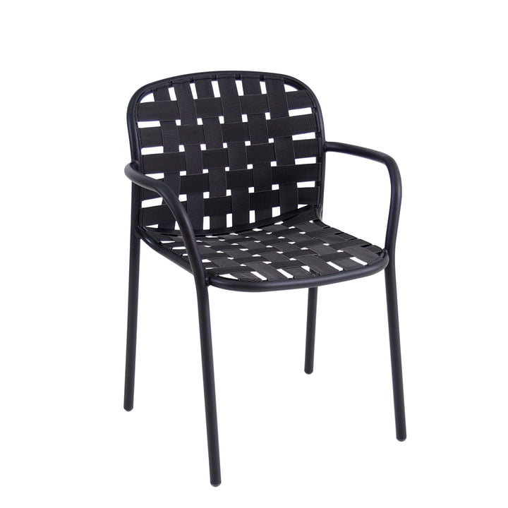 Yard Armchair from Emu in black / grey