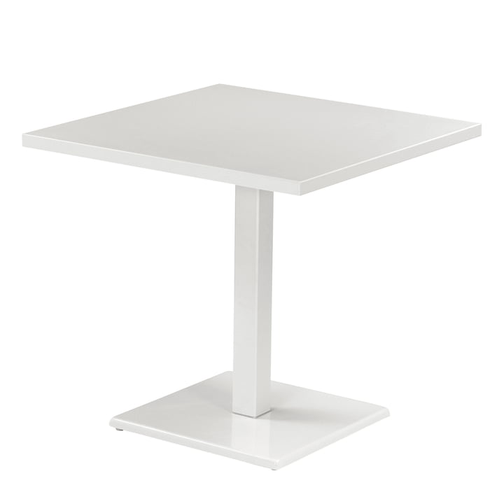Der Emu - Round Table H 75 cm, 80 x 80 cm, white