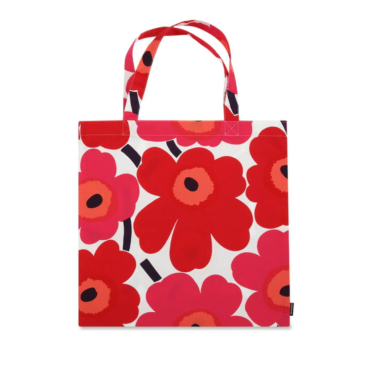 Marimekko - Pieni Unikko Cotton Bag, red / white