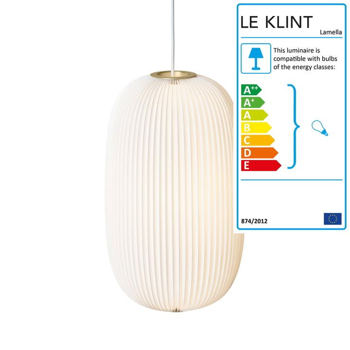 Le Klint - Lamella 2 Pendant Lamp, gold / white
