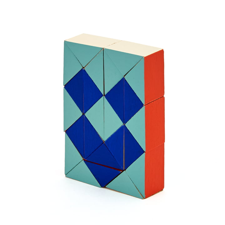 Areaware - Snake Blocks, small, red / blue