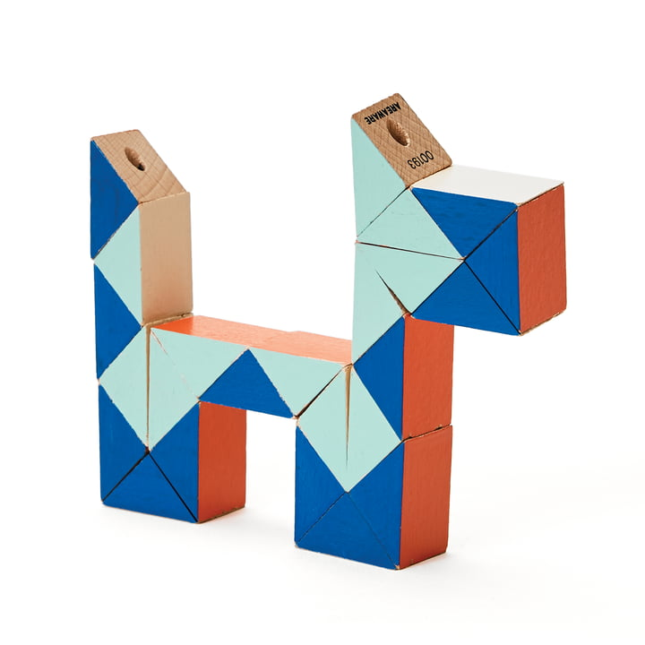Areaware - Snake Blocks, small, red / blue.