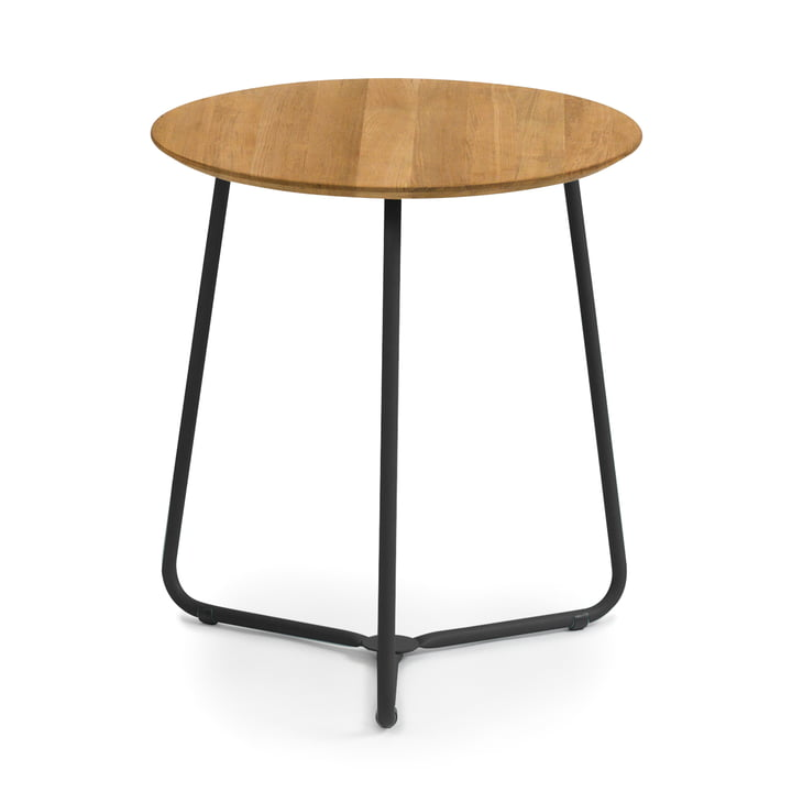 Weishäupl - Balcony Bistro Table, teak / black stainless steel