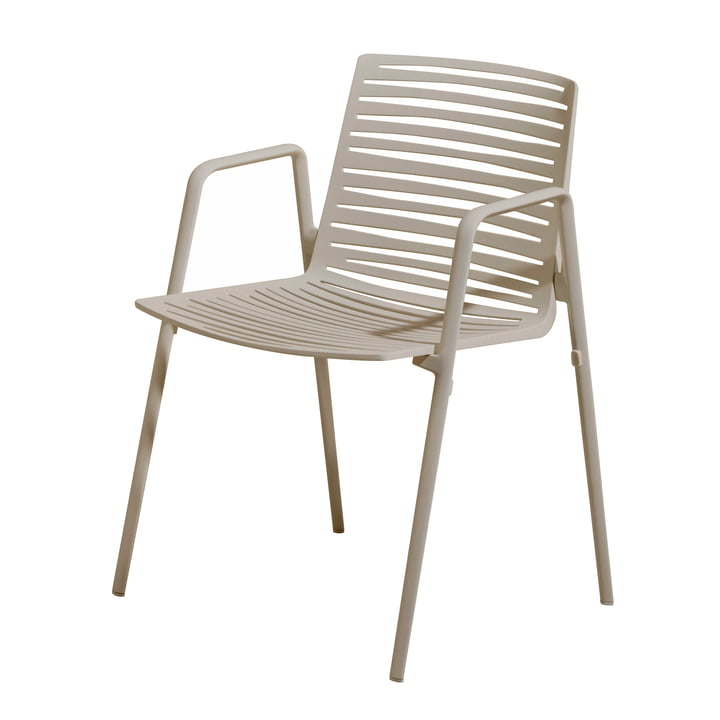 Zebra Armchair by Fast in Cream White