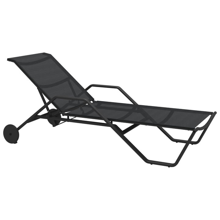 The Gloster - 180 Sunlounger with Armrests, Meteor / Anthracite