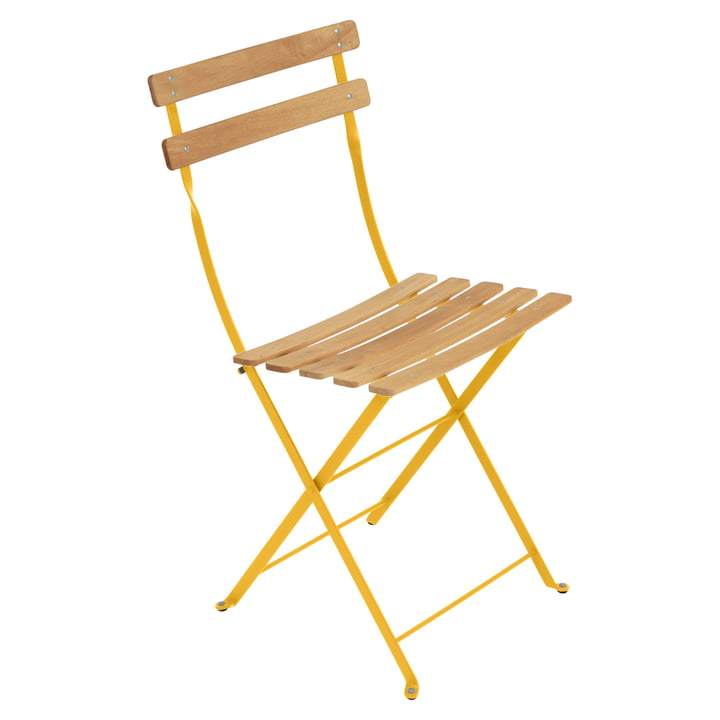 Bistro Natural Folding Chair by Fermob in Honey