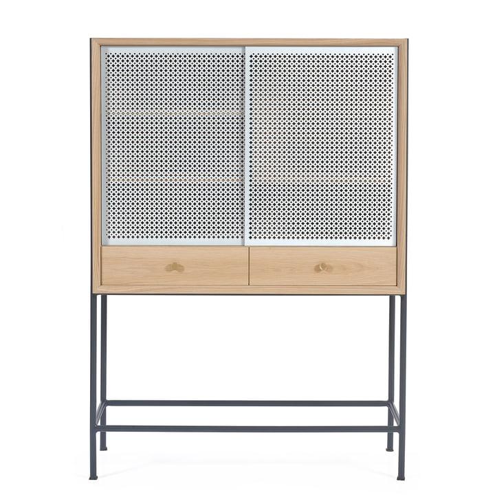 Gabin Cabinet by Hartô in Oak / Light Grey (RAL 7035)