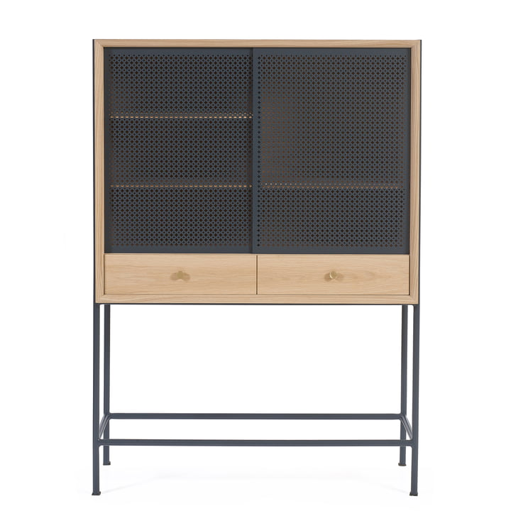 Gabin Cabinet by Hartô in Oak / Anthracite Grey (RAL 7016)