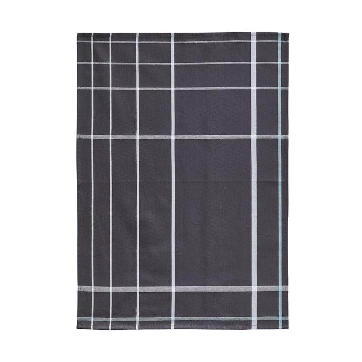 Tea Towel 70 x 50 cm by Zone Denmark in Dark Grey / White