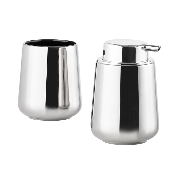 Zone Denmark - Nova One Soap Dispenser and Toothbrush Tumbler, silver