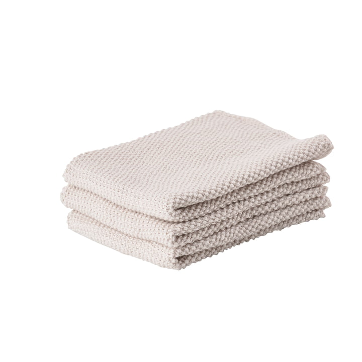 Zone Denmark - Kitchen Cloth, 27 x 27 cm, Warm Grey (set of 3)