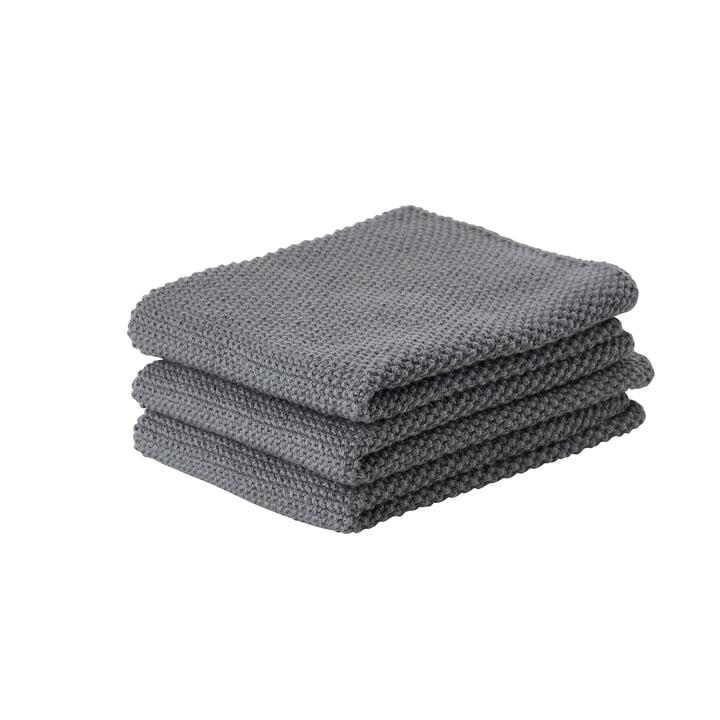 The Zone Denmark - Kitchen Cloth, 27 x 27 cm, Cool Grey (set of 3)