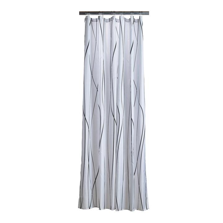 The Zone Denmark - Flow Shower Curtain, anthracite / white