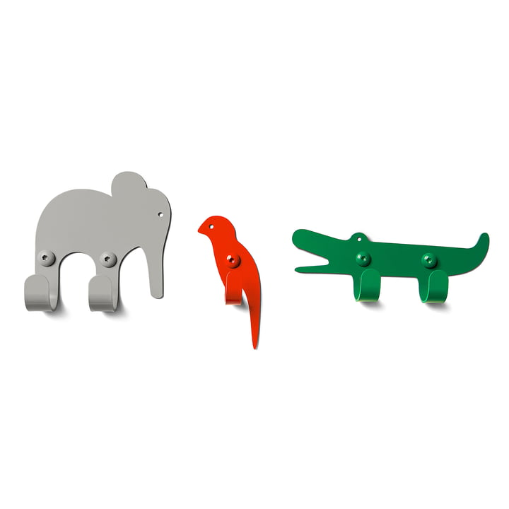 The vonbox - Wall Hooks Zoo, Jungle (set of 3)