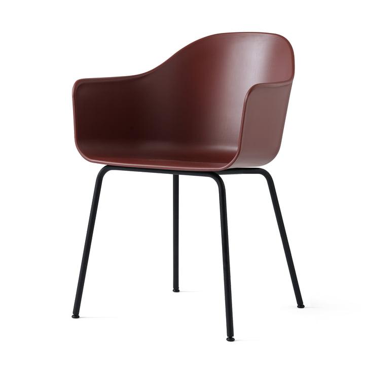 Menu - Harbour Chair (Steel), black / burned red
