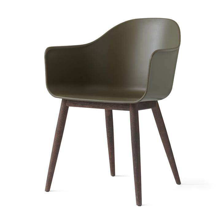 Menu - Harbour Chair (Wood), dark wood / olive