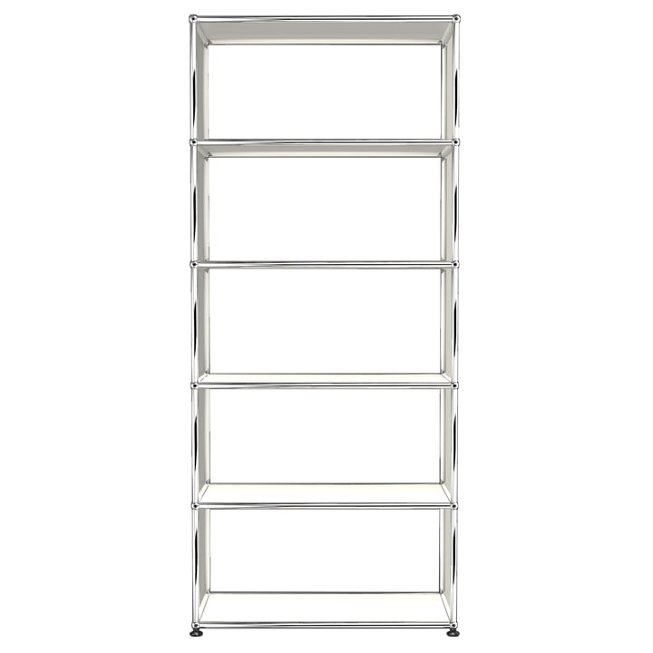 The USM Haller - Shelf S with 5 Compartments, pure white (RAL 9010)