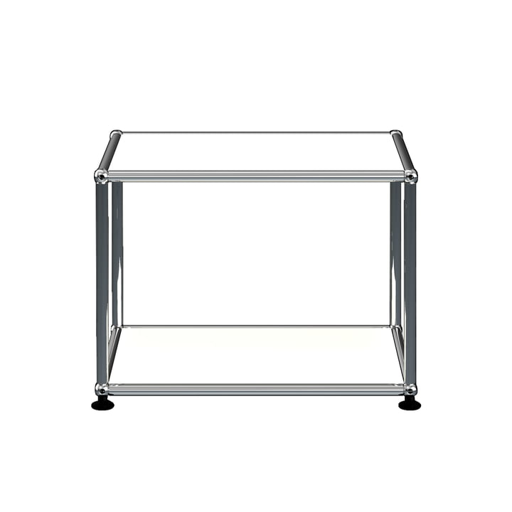 The USM Haller - Side Table, 52.3 x 41.8 cm, pure white (RAL 9010)