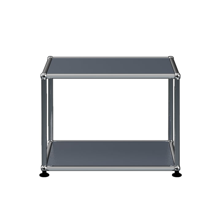 The USM Haller - Side Table, 52.3 x 41.8 cm, Anthracite Grey (RAL 7016)