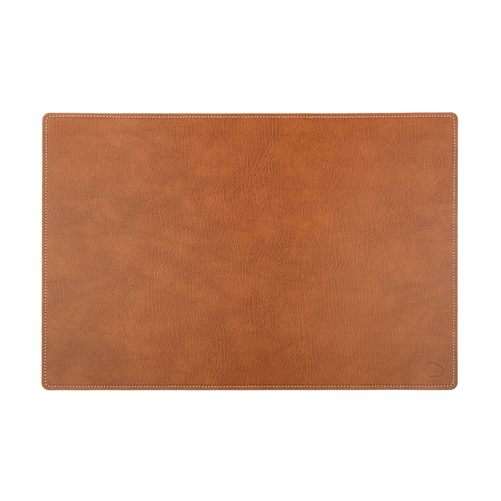 Work Mat Square XL 44 x 64 cm by LindDNA in Natural Bull / White