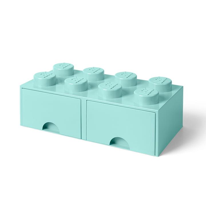 Brick Drawer 8 by Lego in Aqua