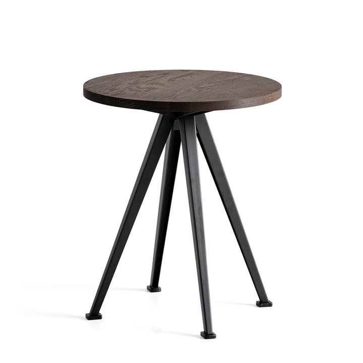 The Hay - Pyramid Coffee Table 51, Ø 45.5 cm, smoked oak / black