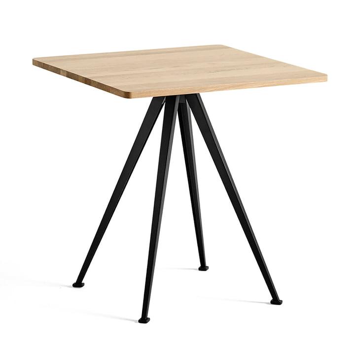 The Hay - Pyramid Bistro Table 21, 70 x 70 cm, lacquered matt oak / black