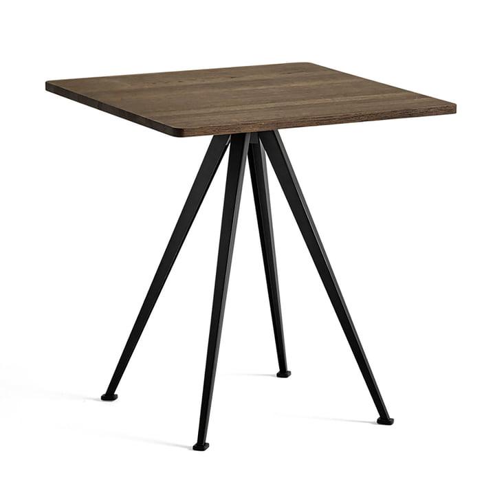 Hay - Pyramid Bistro Table 21, 70 x 70 cm, Smoked Oak / Black