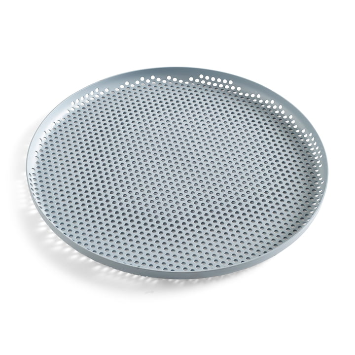 Perforated Tray S of Hay in Dusty Blue