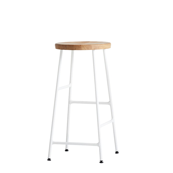 Hay - Cornet Bar Stool Low H 65 cm, oiled oak / cream white