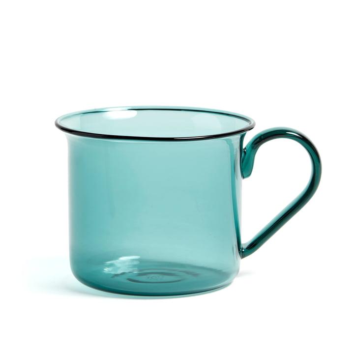 Borosilicate Mug, Ø 8 x H 6.5 cm by Hay in Aqua