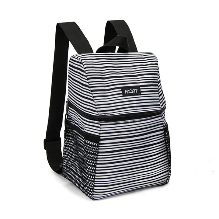 Lunch Cooler Backpack by PackIt in black / white