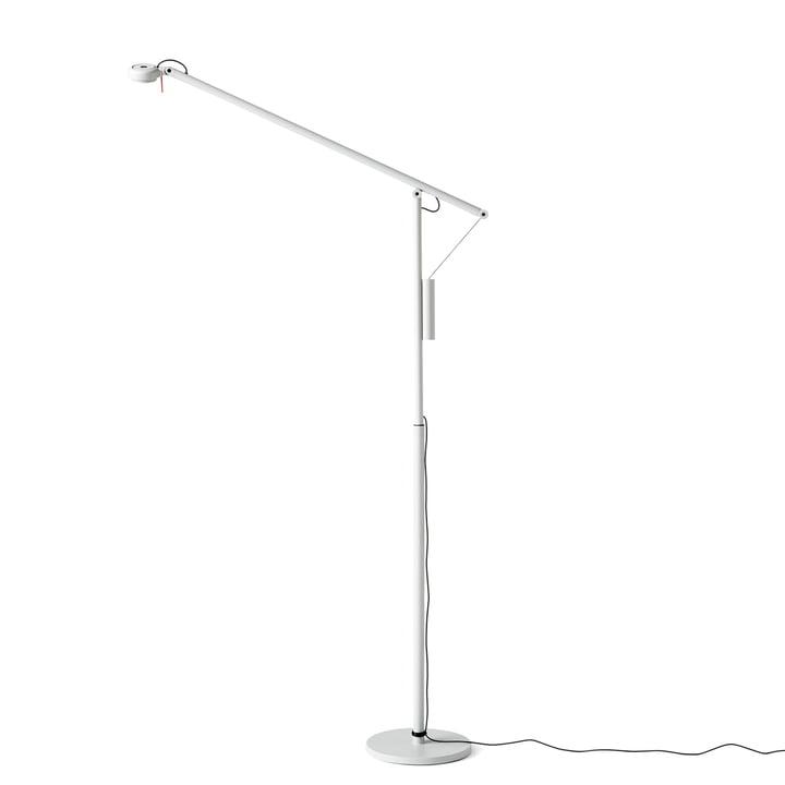 Hay - Fifty-Fifty Mini LED floor lamp, light grey (RAL 7035)