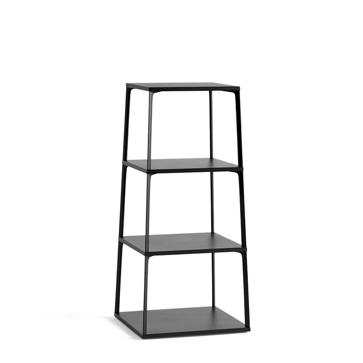 Eiffel Shelf, Square with 4 Shelves by Hay in Black