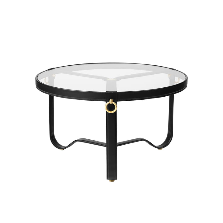 Gubi - Adnet Coffee Table, Ø 70 cm, black leather