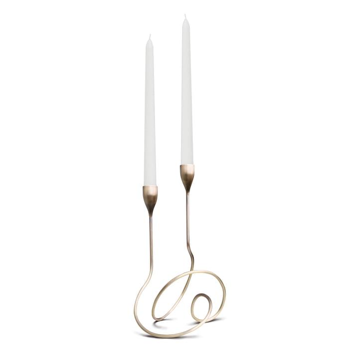 Black + Blum - Loop Candleholder, antique brass