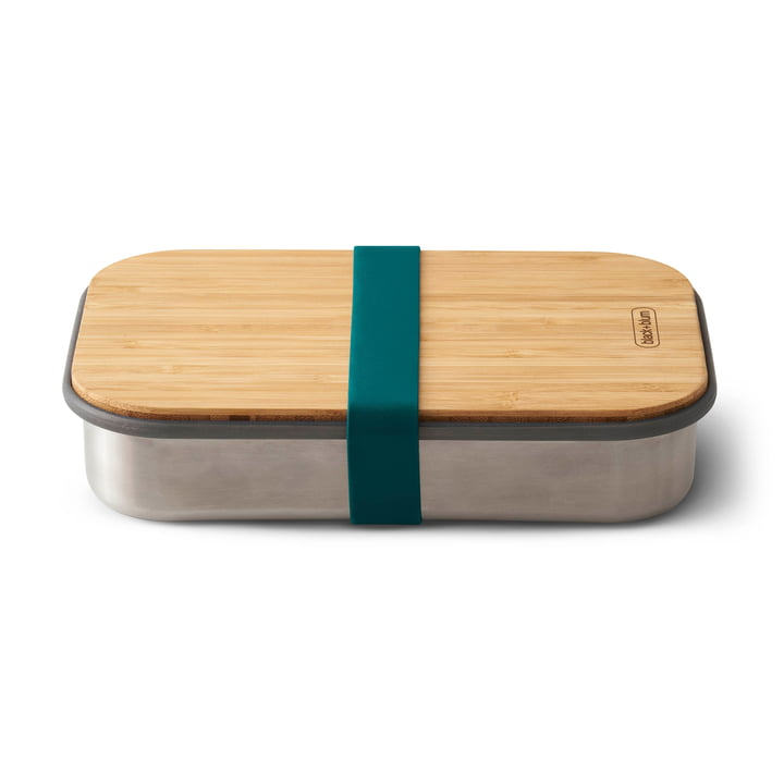 Stainless Steel Sandwich Box by Black + Blum in Ocean