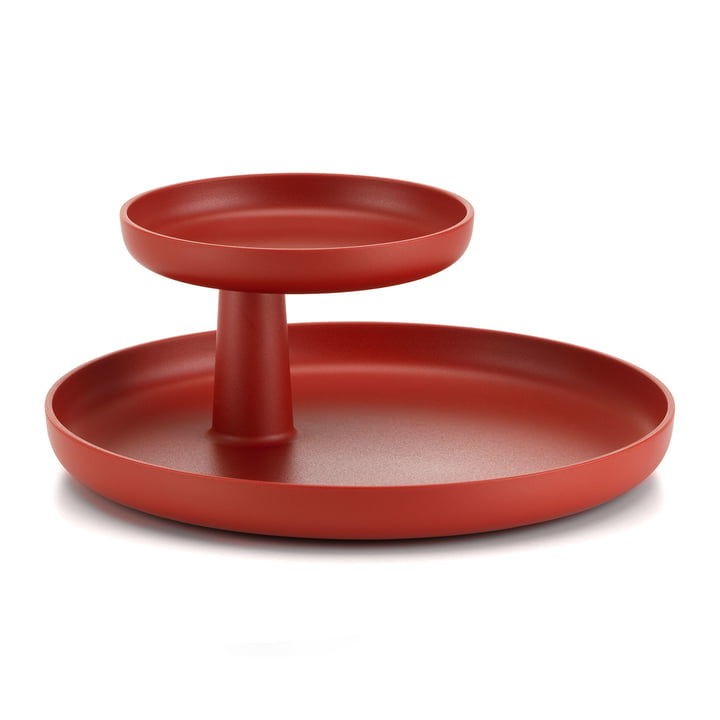The Vitra - Rotary Tray in dark brick