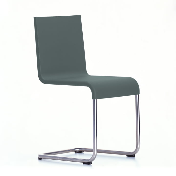Vitra - .05 Chair dark grey, plastic glides