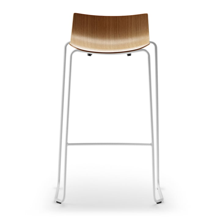 The Carl Hansen - BA004T Preludia Bar Stool in Lacquered Oak / White