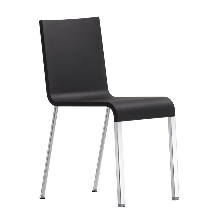 Vitra - .03 Chair not stackable, silver (RAL 9006) / basic dark