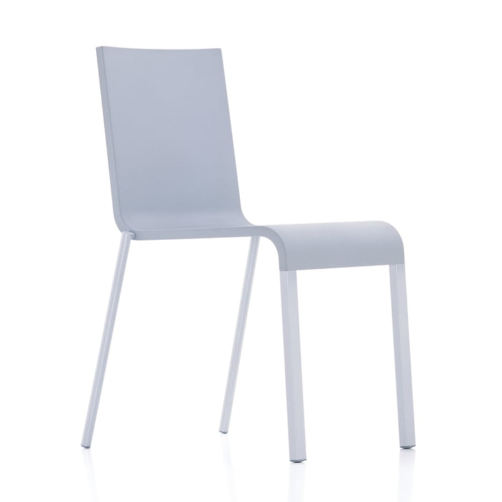 Vitra - .03 chair, stackable, silver (RAL 9006) / grey