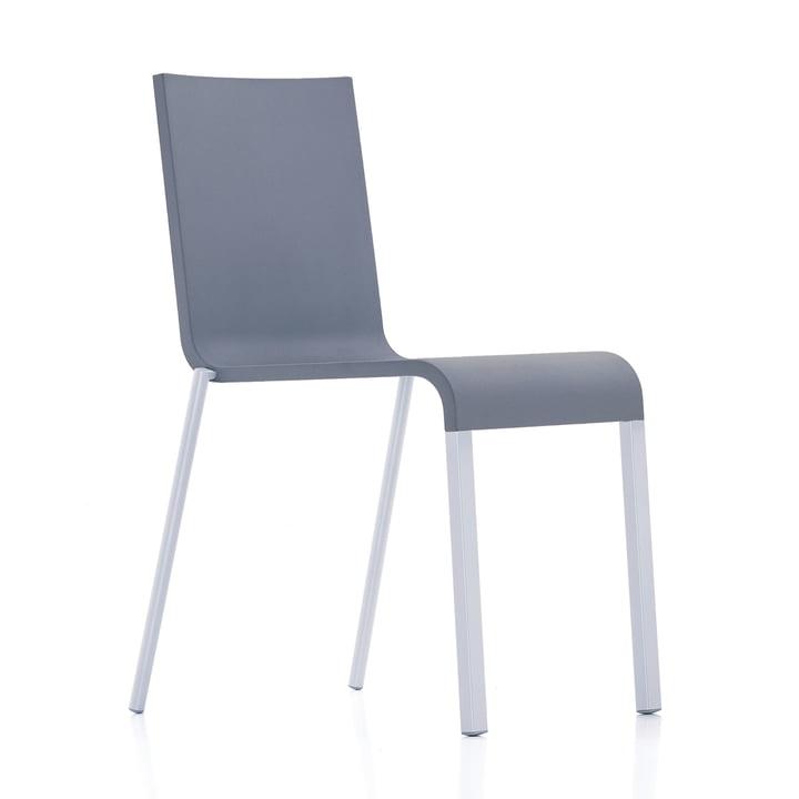 Vitra - .03 Chair stackable, silver (RAL 9006) / dark grey