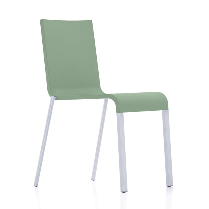 Vitra - .03 chair, stackable, silver (RAL 9006) / mint