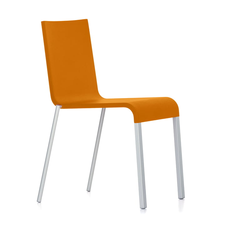 Vitra - .03 chair, stackable, silver (RAL 9006) / mango