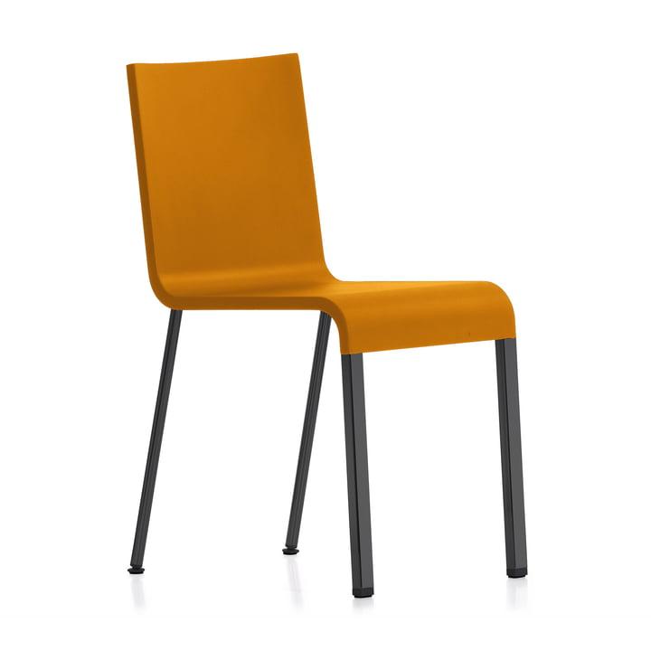 Vitra - .03 chair, stackable, powder-coated black / mango