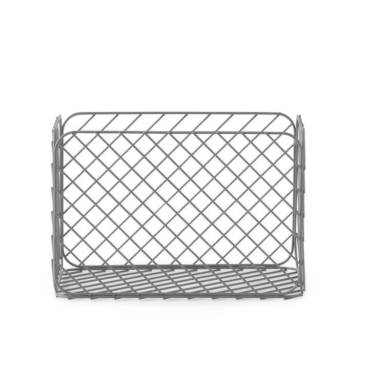 Normann Copenhagen - Track Basket, 23 x 37 x H 25 cm, Grey